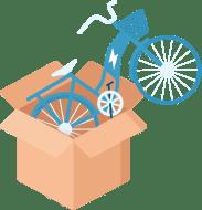 recevoir son vélo