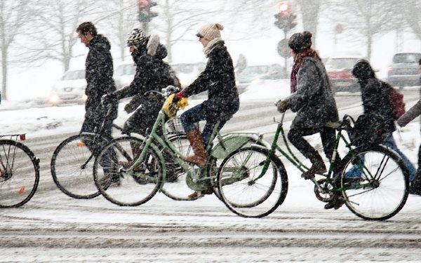 Faire du vélo électrique en hiver