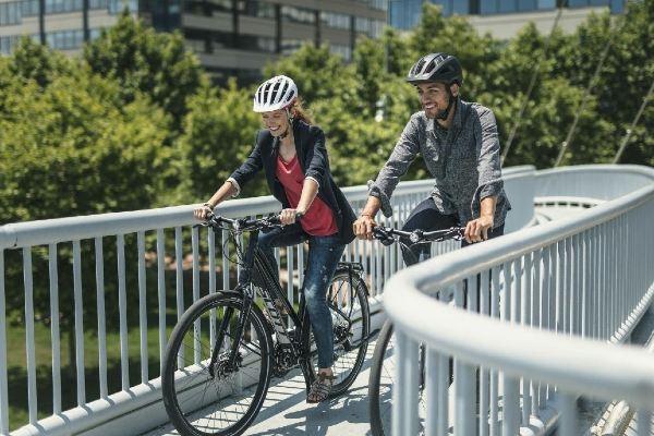 Pente en vélo électrique
