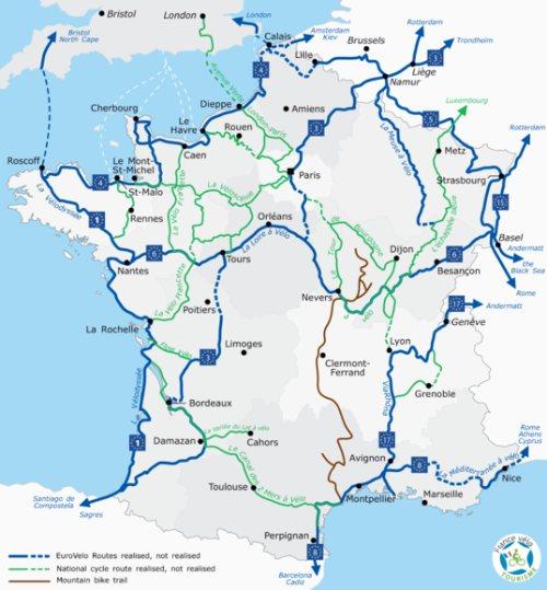 réseau cyclable en France