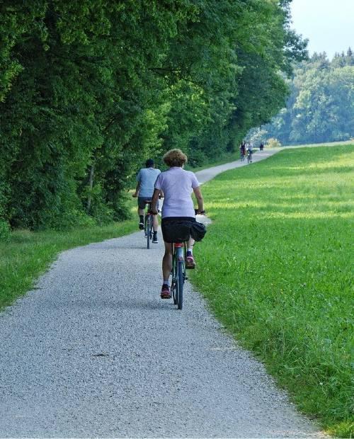 Piste cyclable à Lyon (Rhone Alpes)